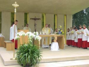 Pfarrer Thomas Eckert verabschiedete sich von den Frohnbergwallfahrern