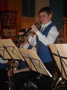 """Wie """"ein alter Hase"""" präsentierte Jakob Hofmann sein Trompetensolo."""