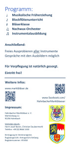 HMB Flyer Junior-Konzert Hinten